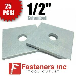 qty 25 1 2 X 3 X 25 approximately Square Bearing Plate Washer Galvanized