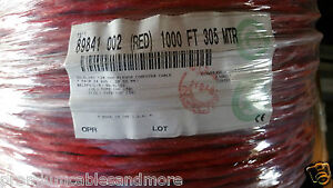 Belden Wire 89841 24 1p 24awg Low Cap Twist Pair Ffep fep Shield Cable Red 50ft