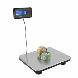 660lbs 300kg Lcd Ac Digital Floor Platform Scale Bench Postal Shipping Weight Tb