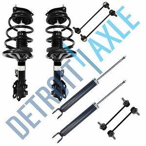 Front Ready Struts Rear Shock Sway Bar Links 2007 2008 2009 2010 Hyundai Elantra
