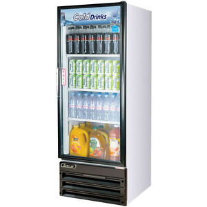 Single Glass Door Reach In Commercial Merchandising Refrigerator