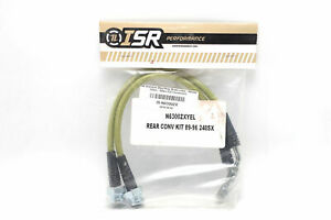 Isr Stainless Steel Braided Rear Z32 Conversion Brake Lines Set Silvia 240sx New
