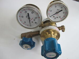 Linde Upe 3 150 540 Gas Brass Regulator With 2 Gauges