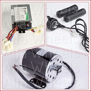 800 Watt 36 V Electric Motor Kit W Base Speed Control Thumb Throttle F Scooter
