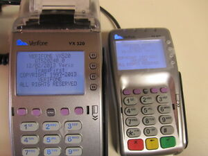 Verifone Vx520 Emv Credit Card Machine And Vx805 Pin Pad With Power Adapter