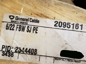 General Cable 2095161 22 6p Telecom Gel Fill Bsw Buried Service Wire Bell 100ft