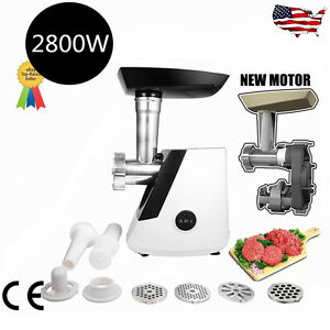 Electric Meat Grinder 2800w 110vl Industrial Kitchen Food Mincer Sausage Maker