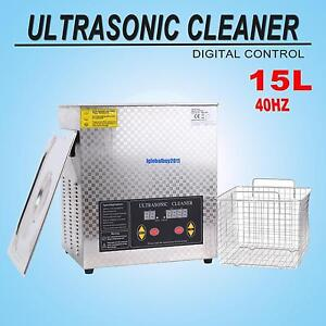 15l Ultrasonic Cleaner Industry Heated Digital Cleaner Cleaning Machine W Timer
