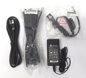 New Genuine Polycom Ip 5000 Power Kit 2200 43240 001 With 24 Ethernet Cable