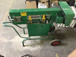 Greenlee Horizontal Band Saw Model 1346 Bandsaw 115vac