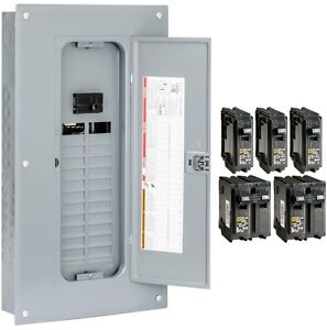 Square D 100 Amp 24 space 48 circuit Indoor Plug on Neutral Breaker Load Center