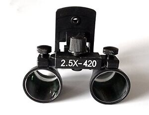 2 5x 3 5x 420mm Clip on Dental Optical Glass Surgical Binocular Loupe Magnifier