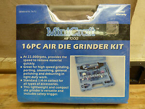 Mint Craft 458 7671 16 Pc Air Die Grinder Kit Brand New Free Shipping