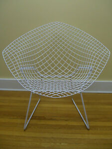 Mid Century Modern Harry Bertoia Iron Diamond Chair C 1960