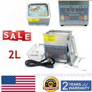 2l Stainless Steel Digital Ultrasonic Cleaner Industry Heated Heater W timer Us
