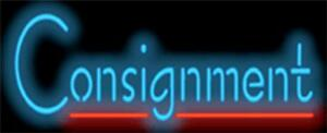 Neon Sign Consignment 32 W X 13 H Rich Blue Ltrs Red Underline Free Shipping
