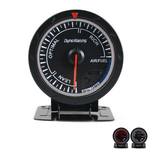 60mm Pointer Car Air Fuel Ratio Gauge Meter Red White Led Black Face Monitor