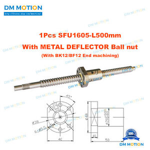 Diy Cnc Xyz Aixs Rolled Ballscrew Rm1605 Sfu1605 500mm metal Deflector Ball Nut