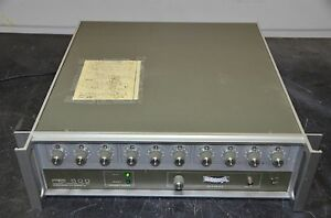Programmed Test Sources Pts 500 M7010 Frequency Synthesizer 1 500 Mhz 0 1 Hz Res