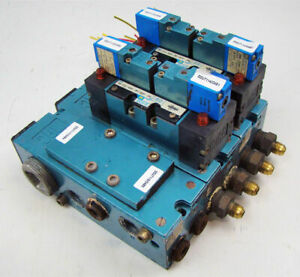 Mac Pneumatic Solenoid 3 Valve Block Bank Mmp2a 231a 9