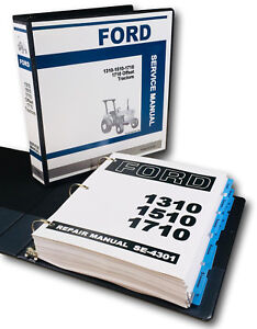 Ford 1310 1510 1710 Compact 1710 Offset Tractor Service Repair Shop Manual Book