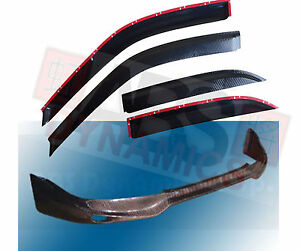 1996 98 Honda Civic 4dr Jun Carbon Fiber Front Lip Carbon Print Window Visor