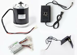 500w 36 V Electric 1020 Motor Kit W Speed Control Foot Pedal Throttle Charger