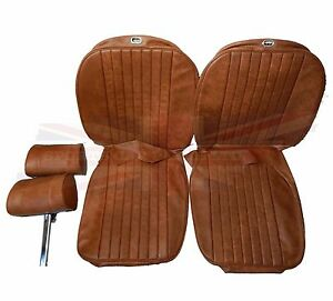 New Seat Covers Upholstery Mgb 1973 80 Made In Uk Headrests Autumn Leaf Sc125k
