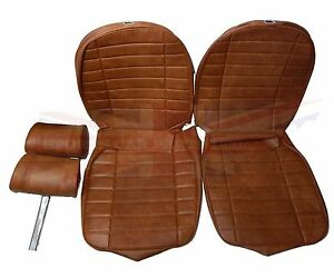 New Seat Covers Upholstery Mgb 1973 80 Made In Uk Headrests Autumn Leaf Sc115k