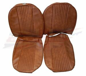 New Pair Of Seat Covers Upholstery Mgb 1970 72 Made In Uk Autumn Leaf Sc111k