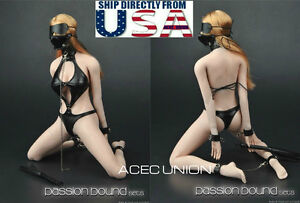 1 6 Sexy SM Leather Lingerie Suit Set For 12quot; Phicen Hot Toys Female Figure USA $39.99
