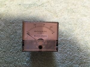 Western Electric Panel Meter Dc Kilovolts 2 4 Me 191