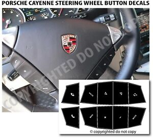 Porsche Cayenne Steering Wheel Matte Black Button Repair Decals Stickers
