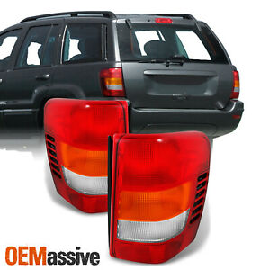 Fit 99 04 Jeep Grand Cherokee Red Amber Tail Lights L R Replacement