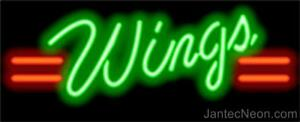Wings Real Neon Sign Pizzeria Bar Restaurant 2 Sizes Jantec Usa Free Shipping
