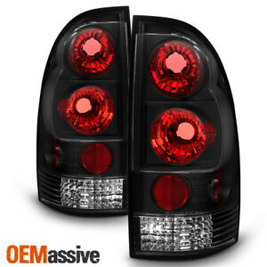 Fits 05 15 Toyota Tacoma Pickup Truck Black Bezel Rear Tail Lights Brake Lamps