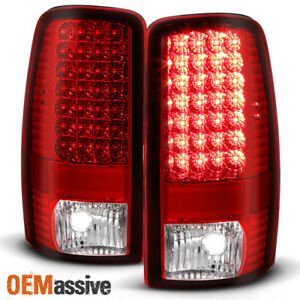 Fits 00 06 Chevy Suburban 1500 2500 Tahoe Gmc Yukon Led Red Clear Tail Lights