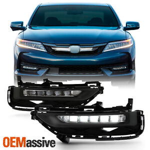 Fit 2016 2017 Honda Accord 2dr Coupe Full Led Bumper Fog Lights W switch wiring