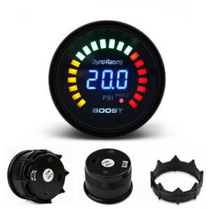 2 52mm Turbo Boost Gauge Digital Analog Led Pressure Meter Psi Smokers Face