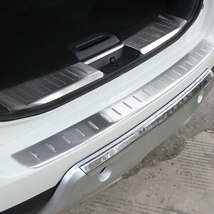 Rear Bumper Protector Cover Tailgate Sill Plate For Nissan Rogue 2014 2015 2017