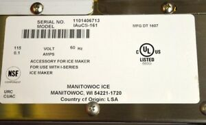 Manitowoc Ice Machine Cleaner System Iaucs 161 Central Model 240 298