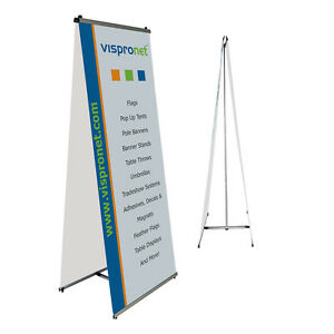 Double sided L Banner Stand 2 6 X 6 6 Trade Show Retail Banner Stand Display