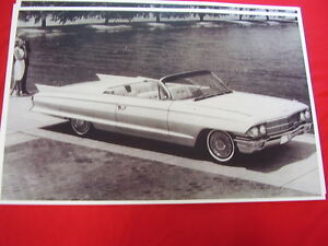 1962 Cadillac Convertible 11 X 17 Photo Picture