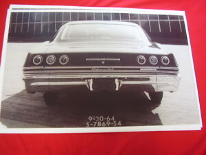 1965 Chevrolet Impala Ss 2dr Hardtop Rear End View 11 X 17 Photo Picture