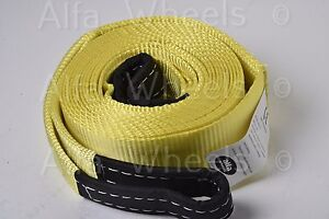 3 20000 Lbs 9t Auto Car Suv Tow Strap Rope 20 Ft Winch Off Road Snatch Recovery