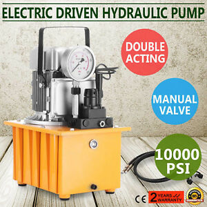 Electric Driven Hydraulic Pump 10000psi Double Acting 0 75kw Motor High Quality