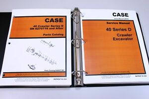 Case Drott 40d Crawler Excavator Service Repair Manual Parts Catalog Shop Set