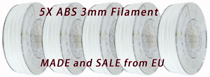 5x 1kg 3mm Abs White 3d Printer Filament Pla 1 75mm Reprap 5kg 5pcs 3 00mm