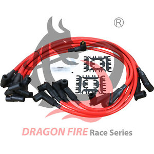 Dragon Fire Performance Hei Spark Plug Wires Set 10mm Chevy Sbc Bbc 350 400 454