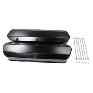Black Coated Fabricated Valve Covers For Sbf Ford 5 0l Mustang 289 302 351w